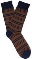 Oliver Spencer Loungewear - Hinton Striped Cotton-blend Socks - Brown