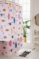 DENY Designs Hello Sayang For Deny Eyes Hands Lips Shower Curtain