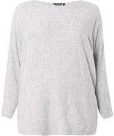 Dorothy Perkins Womens DP Curve Plus Size Grey Slouch Rib Jumper- Grey