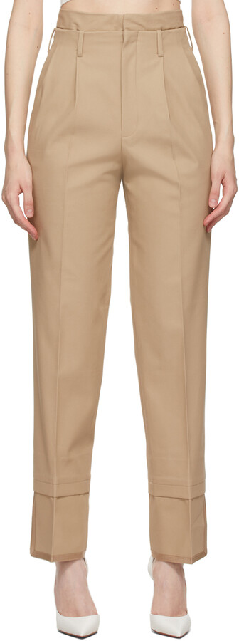 Thumbnail for your product : Commission Beige Layered Trousers