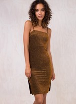 MinkPink Copper Wave Midi Dress