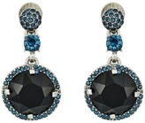 Oscar de la Renta Pave Rounder Crystal P Earrings