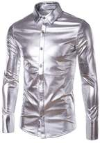 Seastar Mens Trend Nightclub Styles Metallic silver Button Down Shirts