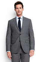 Lands' End Men's Tailored Fit Wool Year'rounder Suit Jacket-True Navy
