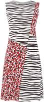 HUGO BOSS Diseba leopard and zebra print dress