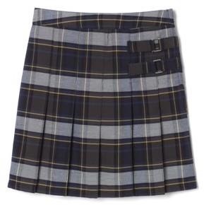 French Toast Girls School Uniform Adjustable Waist Plaid 2-Tab Scooter Skirt, Sizes 4-20 & Plus
