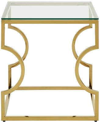 Premier Housewares Allure Curved Lamp Table