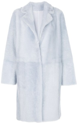 Yves Salomon Bathrobe-Style Shearling Coat