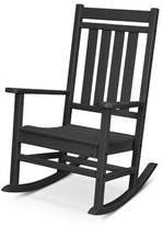 Polywood Plantation Porch Rocking Chair Color: Black