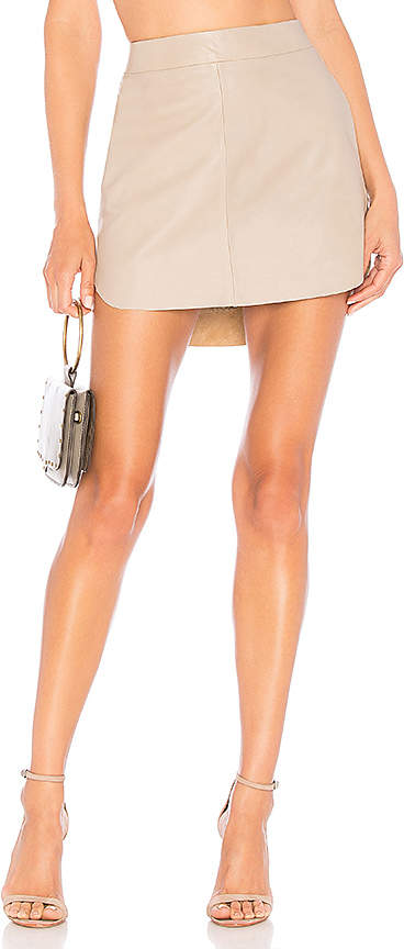 Karina Grimaldi Simon Leather Skirt