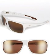 Maui Jim 'Island Time - PolarizedPlus ® ' Rectangle Wrap 64mm Sunglasses