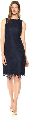 Sharagano Women's Sleevesless lace Dress