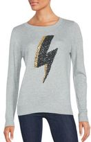 Saks Fifth Avenue Thunder Bolt Sequin Sweater