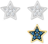 Swarovski Silver-Tone 3-Pc. Crystal Star Stud Earring Set