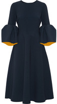 Roksanda Yasmin Bonded Stretch-crepe Midi Dress - Navy