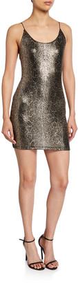 Alice + Olivia Delora Spaghetti-Strap Fitted Mini Dress