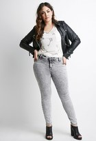 Forever 21 Mineral Wash Jeans