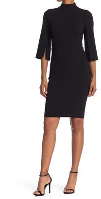 Calvin Klein Mock Neck Sheath Dress