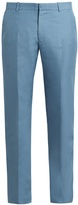 Alexander McQueen Slim-fit mohair and silk-blend trousers