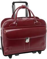 "McKlein McKleinUSA Lakewood 15.4"" Leather Fly-Through Checkpoint-Friendly Detachable -Wheeled Laptop Briefcase"