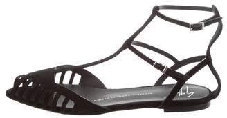 Giuseppe Zanotti Suede T-Strap Sandals w/ Tags