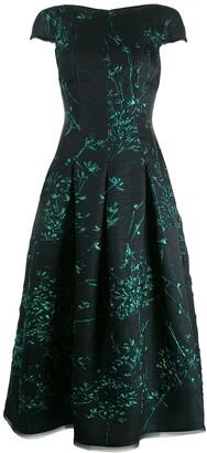 Talbot Runhof Portsmith silk jackquard dress