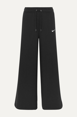 Nike Cotton-blend Jersey Wide-leg Track Pants