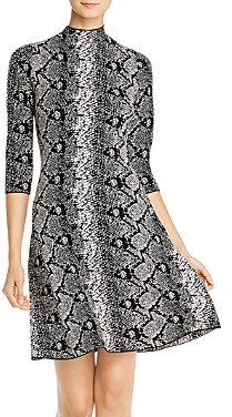 Nanette Lepore nanette Snake Print A-Line Dress