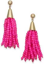 INC International Concepts I.N.C. Gold-Tone Bead Fringe Drop Earrings, Created for Macy's