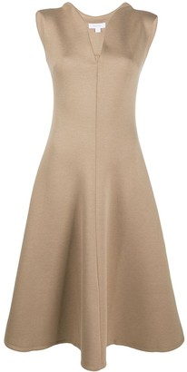 Beaufille V-neck knit midi dress