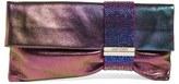 Jimmy Choo Chandra Leather Clutch - Purple