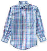 Class Club Big Boys 8-20 Button-Front Long-Sleeve Plaid Shirt