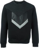 Les Hommes chevron print sweatshirt