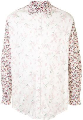 Marine Serre Inside-Out Floral Shirt