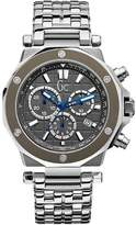GUESS GUESS? Collection Men's Gc-3 G72009G5 Silver Stainless-Steel Swiss Quartz Watch with Dial