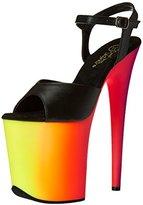 Pleaser USA Women's Rbow809uv/bpu/nmc Platform Sandal