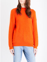 Mo&Co. Bow-detail knitted jumper