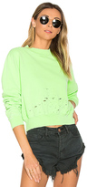 Cotton Citizen The Milan Cropped Sweatshirt in Green. - size L (also in )