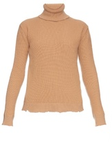 Valentino Roll-neck wool and cashmere-blend sweater