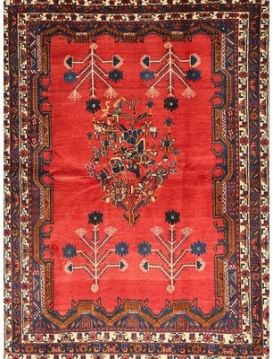 Bungalow Rose Gedda Oriental Red/Black Area Rug Rug Size: Round 6'