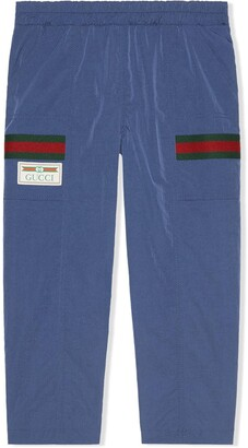 Gucci Kids Logo-Patch Elasticated-Waist Trousers