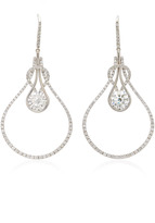 Martin Katz Round Brilliant Diamond Knot Earrings