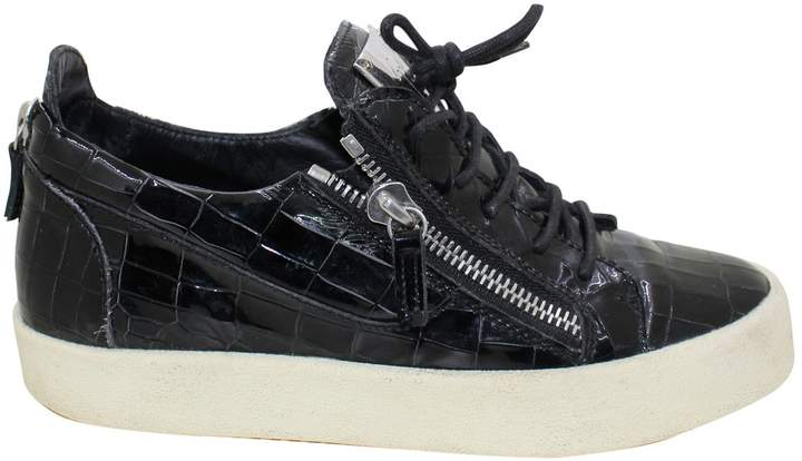 Giuseppe Zanotti Patent leather low trainers