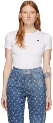 Marine Serre White Moon T-Shirt