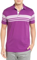 Bobby Jones Men's Trio Stripe Jersey Golf Polo