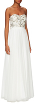 Aidan Mattox Strapless Gown with Embellishment
