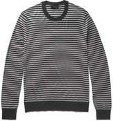 Joseph Striped Merino Wool Sweater - Charcoal