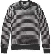 Joseph Striped Merino Wool Sweater