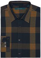 Perry Ellis Roll-Up Sleeve Plaid Shirt