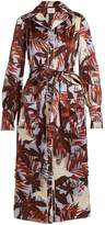 Erdem Quenna tie-waist silk-satin shirtdress